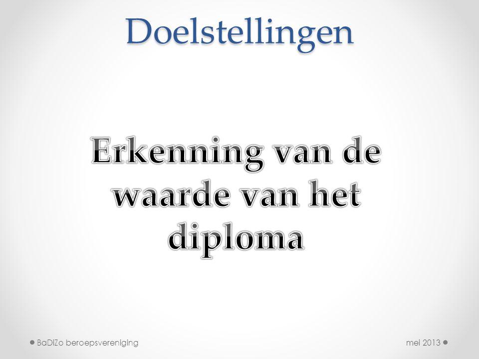 Erkenning van de waarde van het diploma