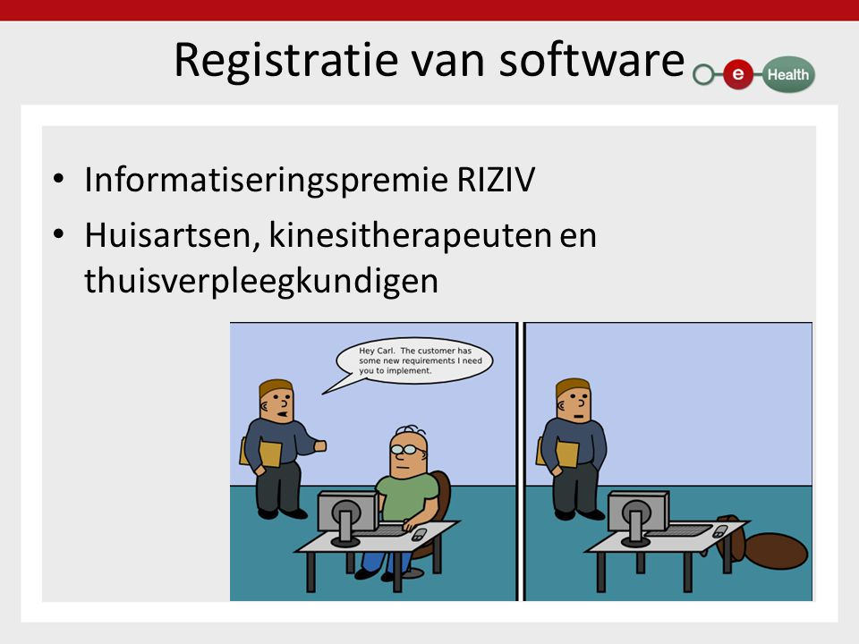 Registratie van software