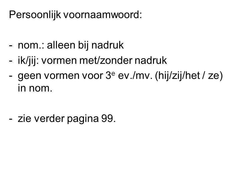 Persoonlijk voornaamwoord: