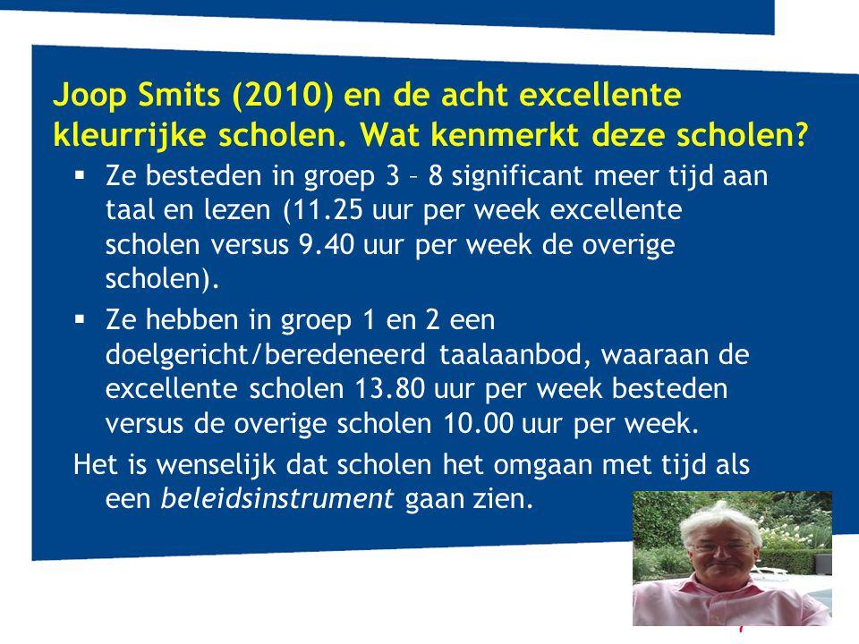 Joop Smits (2010) en de acht excellente kleurrijke scholen