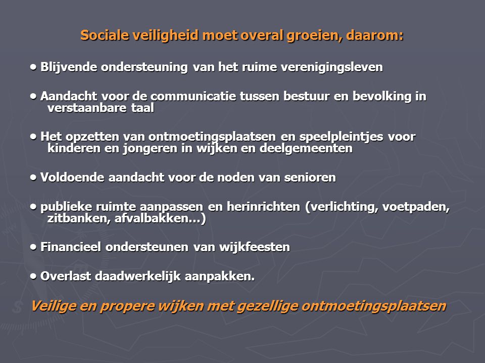 Sociale veiligheid moet overal groeien, daarom: