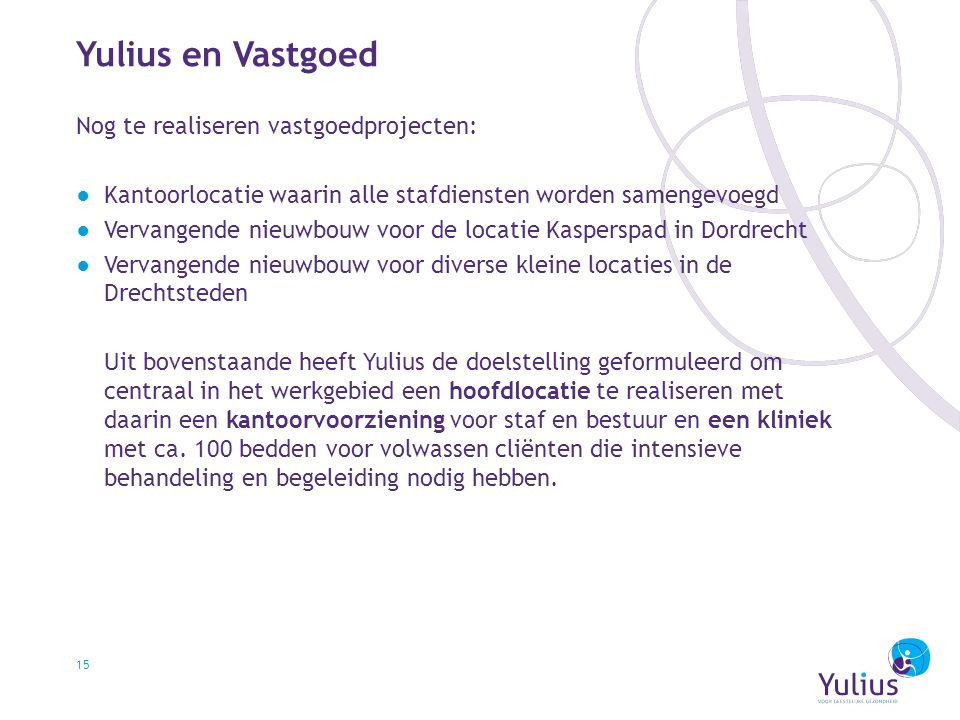 Yulius en Vastgoed Nog te realiseren vastgoedprojecten: