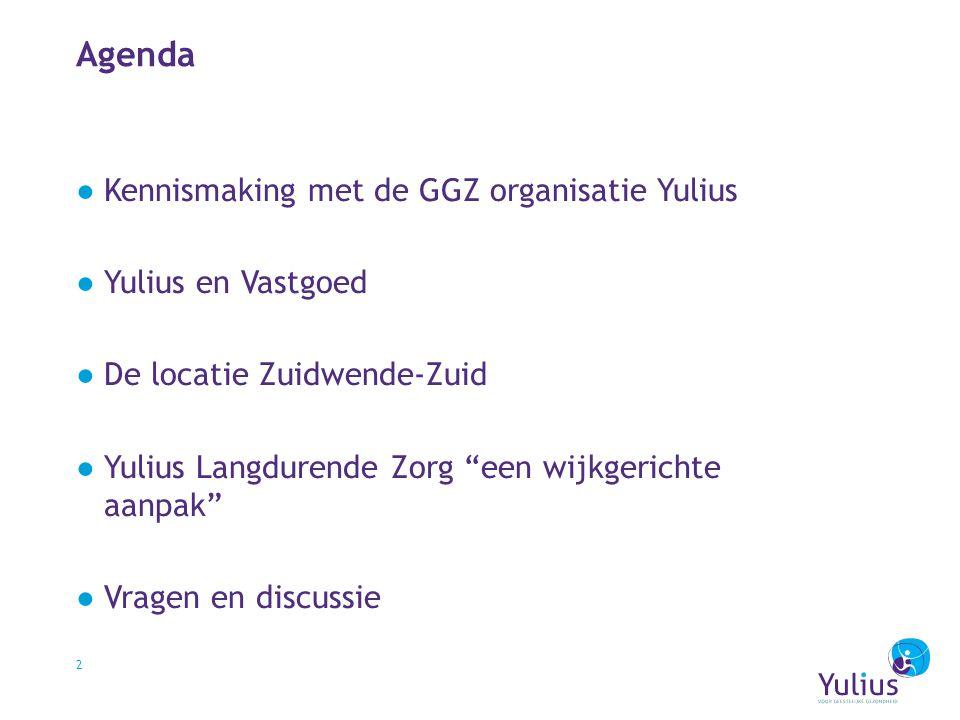 Agenda Kennismaking met de GGZ organisatie Yulius Yulius en Vastgoed