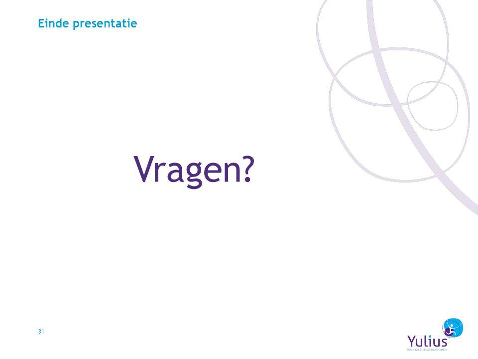 Einde presentatie Vragen