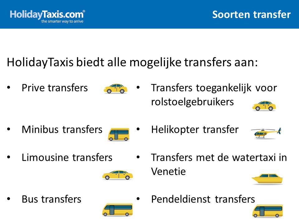 HolidayTaxis biedt alle mogelijke transfers aan: