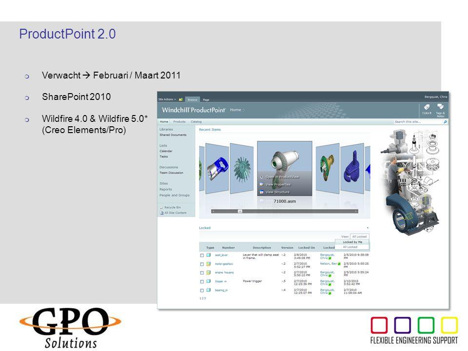 ProductPoint 2.0 Verwacht  Februari / Maart 2011 SharePoint 2010