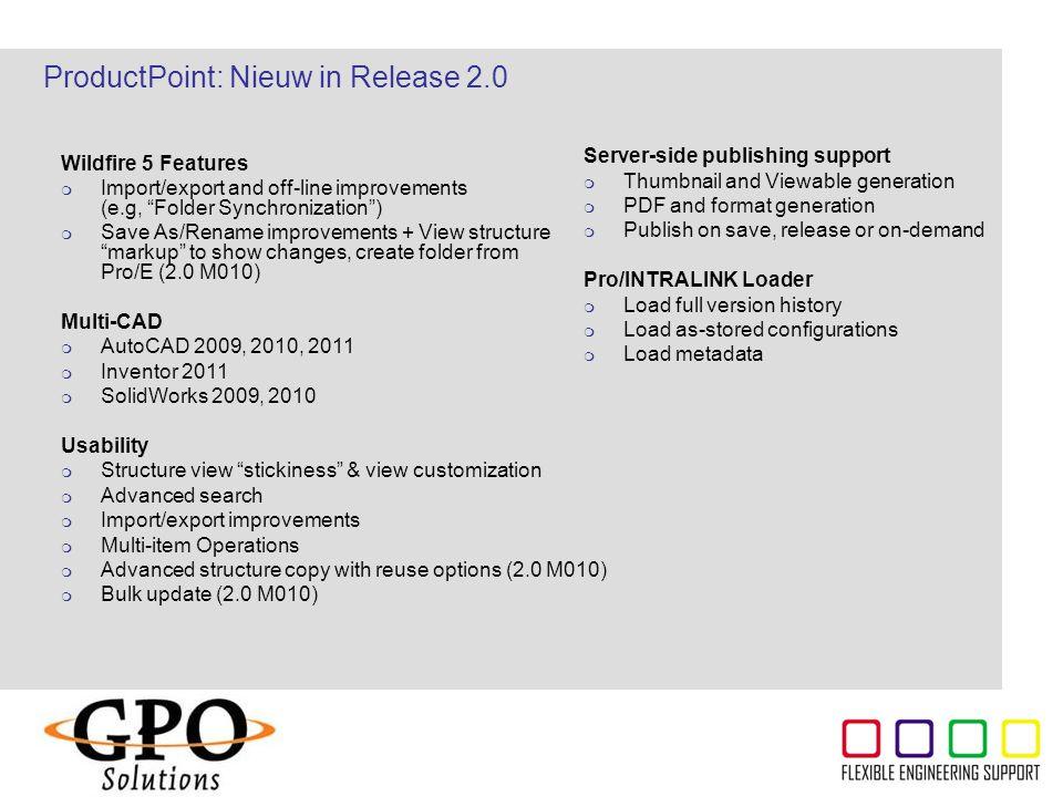 ProductPoint: Nieuw in Release 2.0