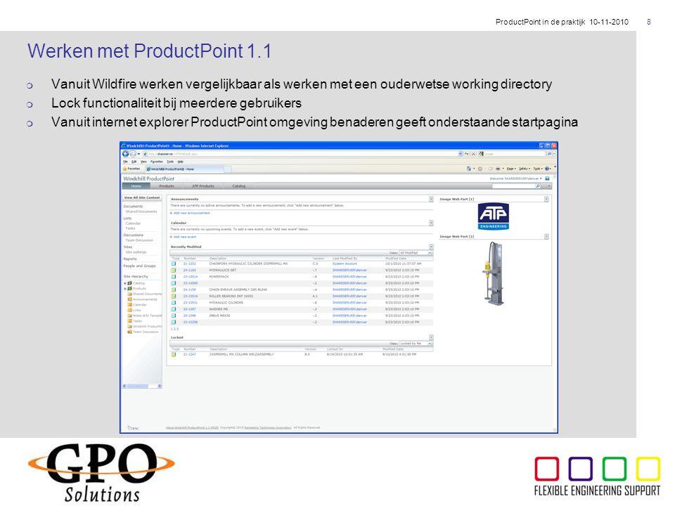 Werken met ProductPoint 1.1