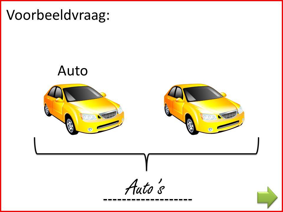 Voorbeeldvraag: Auto Auto's