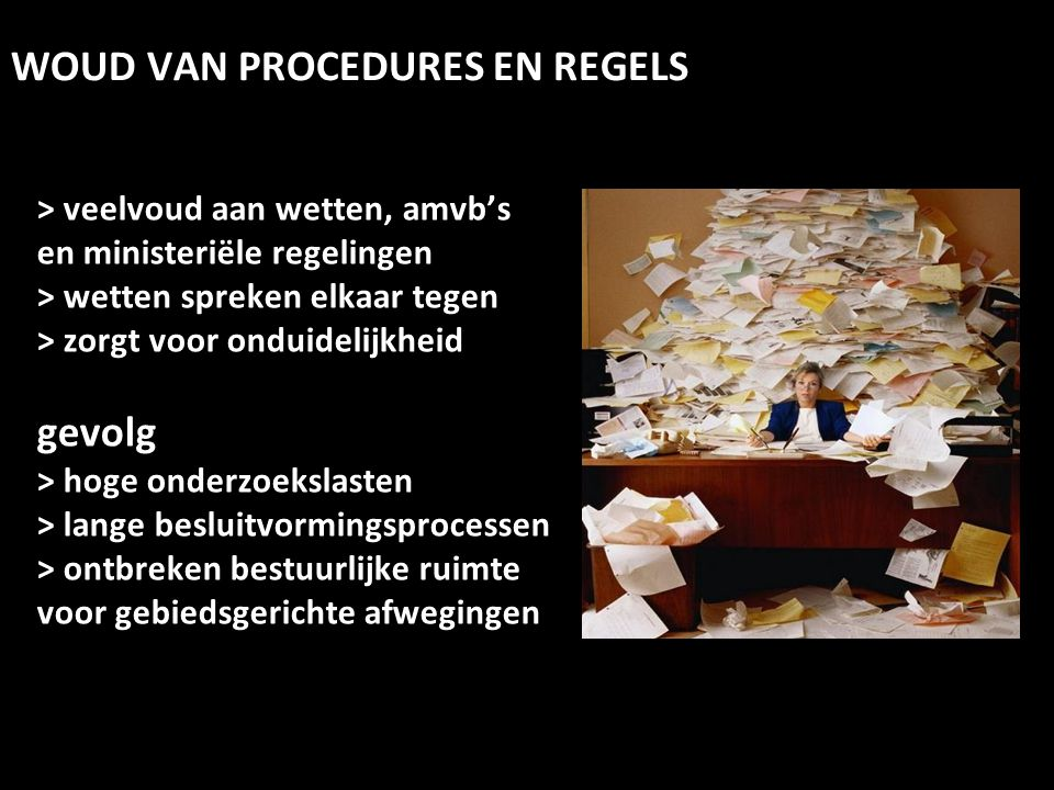 WOUD VAN PROCEDURES EN REGELS
