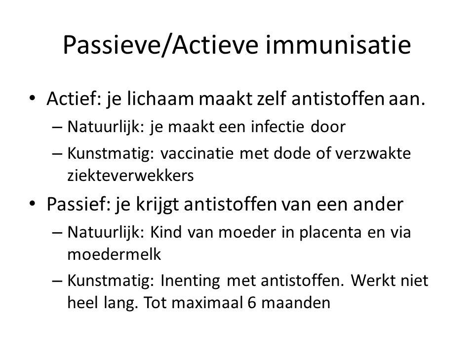 Passieve/Actieve immunisatie
