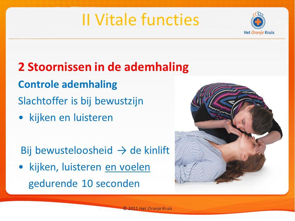 II Vitale functies 2 Stoornissen in de ademhaling Controle ademhaling