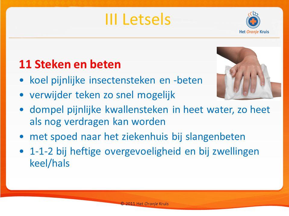 III Letsels 11 Steken en beten koel pijnlijke insectensteken en -beten