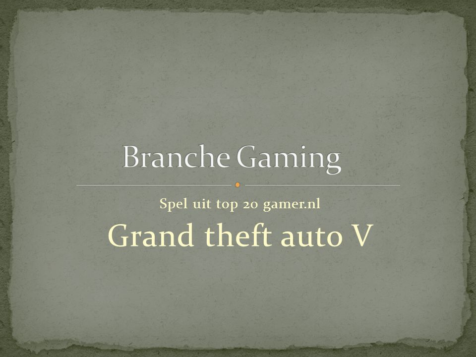 Spel uit top 20 gamer.nl Grand theft auto V
