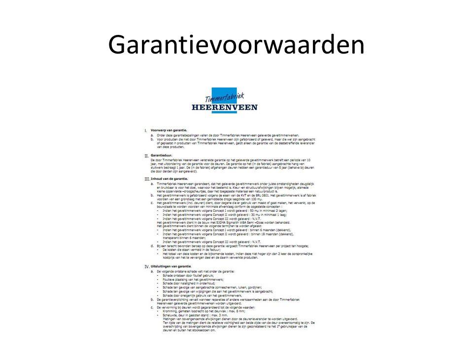 Garantievoorwaarden