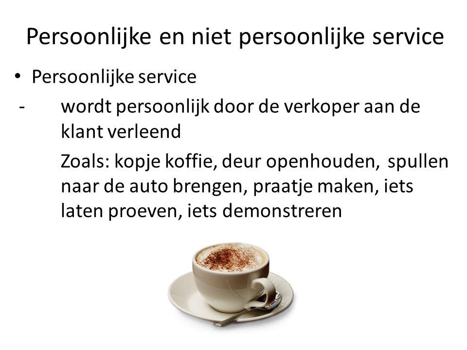 Persoonlijke en niet persoonlijke service