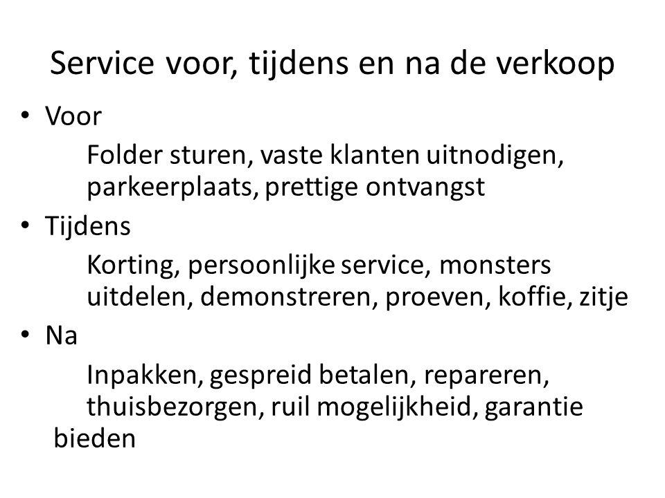 Service voor, tijdens en na de verkoop