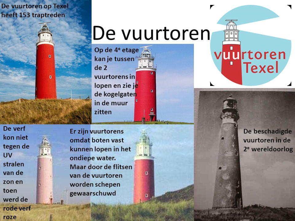 De vuurtoren De vuurtoren op Texel heeft 153 traptreden