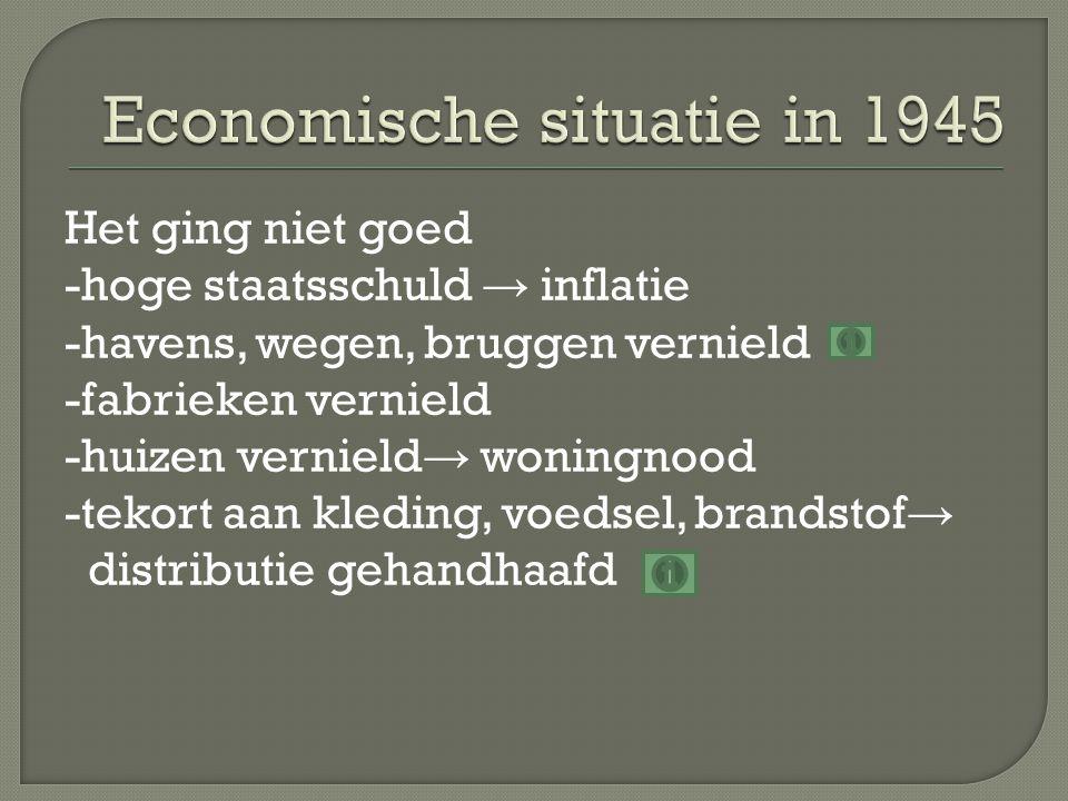Economische situatie in 1945