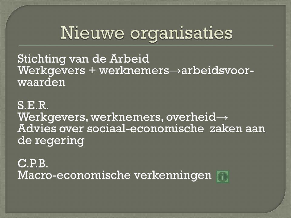 Nieuwe organisaties