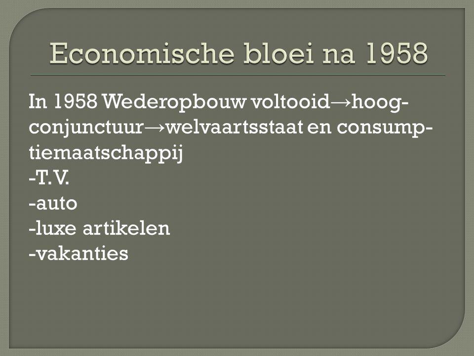 Economische bloei na 1958