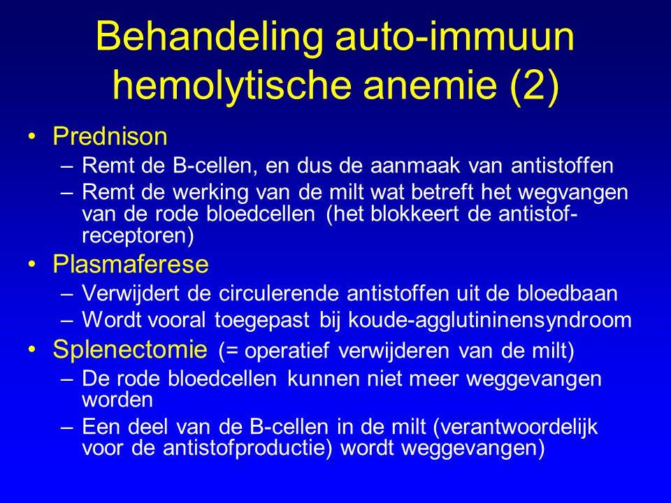 Behandeling auto-immuun hemolytische anemie (2)