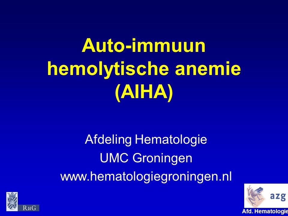 Auto-immuun hemolytische anemie (AIHA)