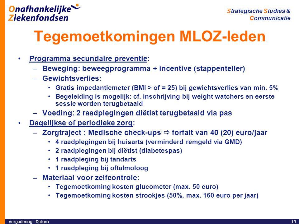 Tegemoetkomingen MLOZ-leden