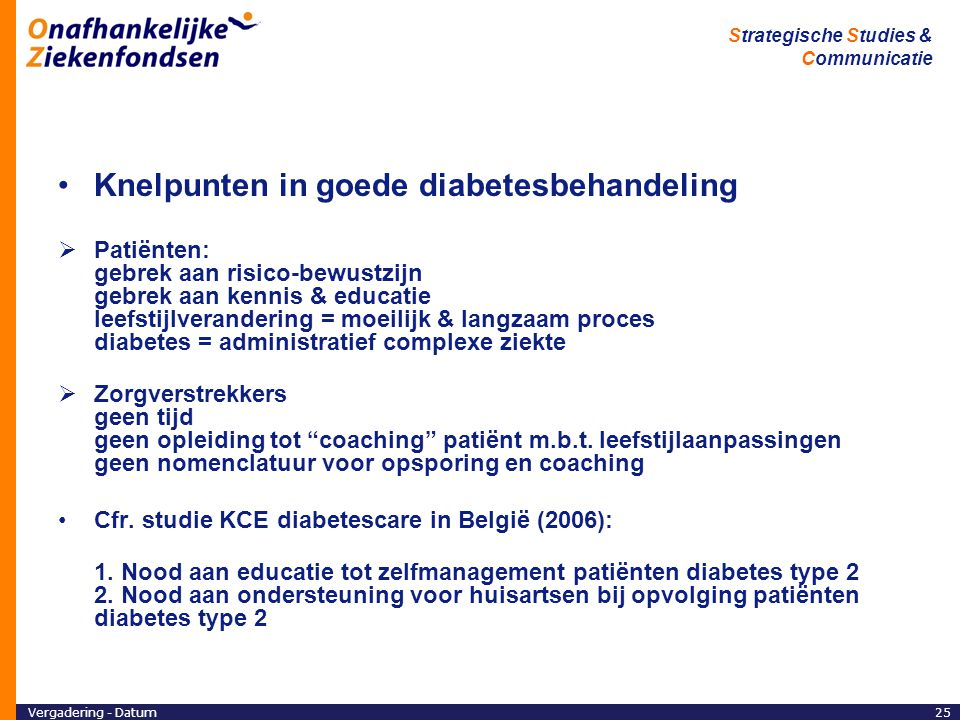Knelpunten in goede diabetesbehandeling