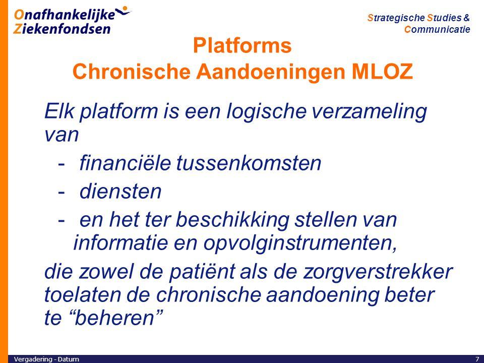 Platforms Chronische Aandoeningen MLOZ