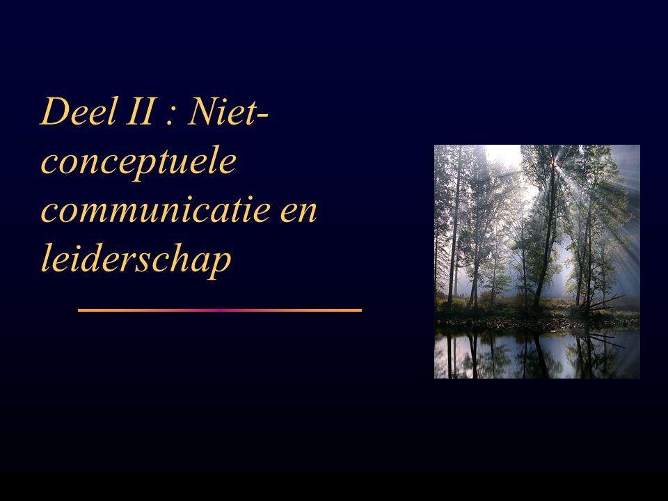 Deel II : Niet-conceptuele communicatie en leiderschap