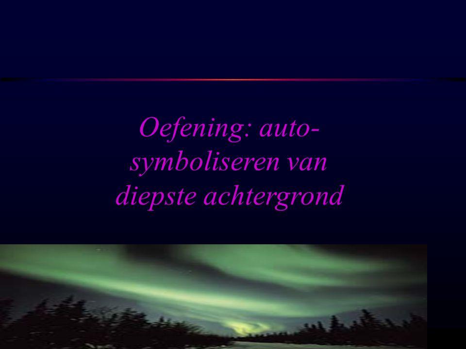 Oefening: auto-symboliseren van diepste achtergrond