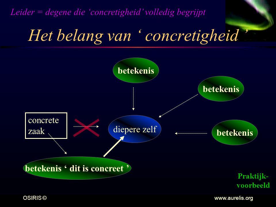 Het belang van ' concretigheid '