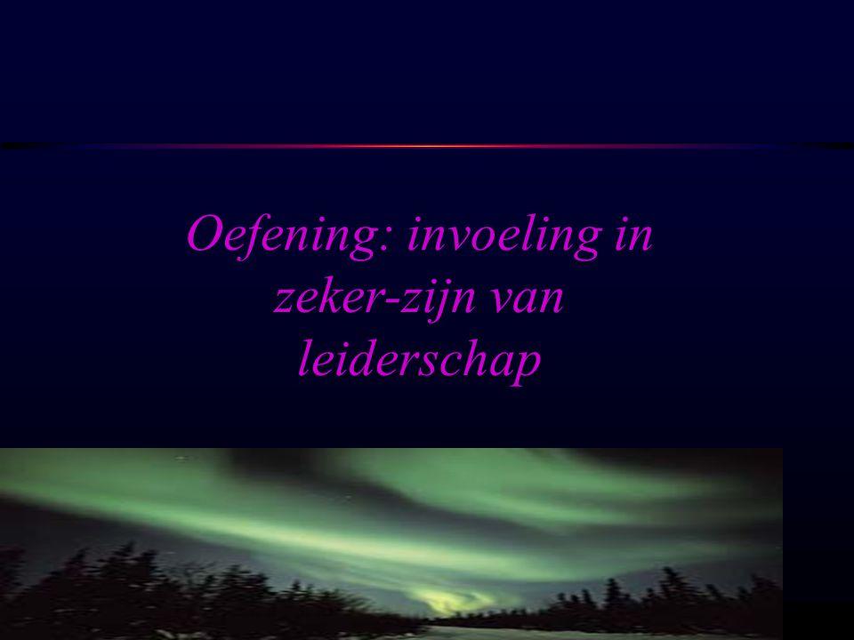 Oefening: invoeling in zeker-zijn van leiderschap