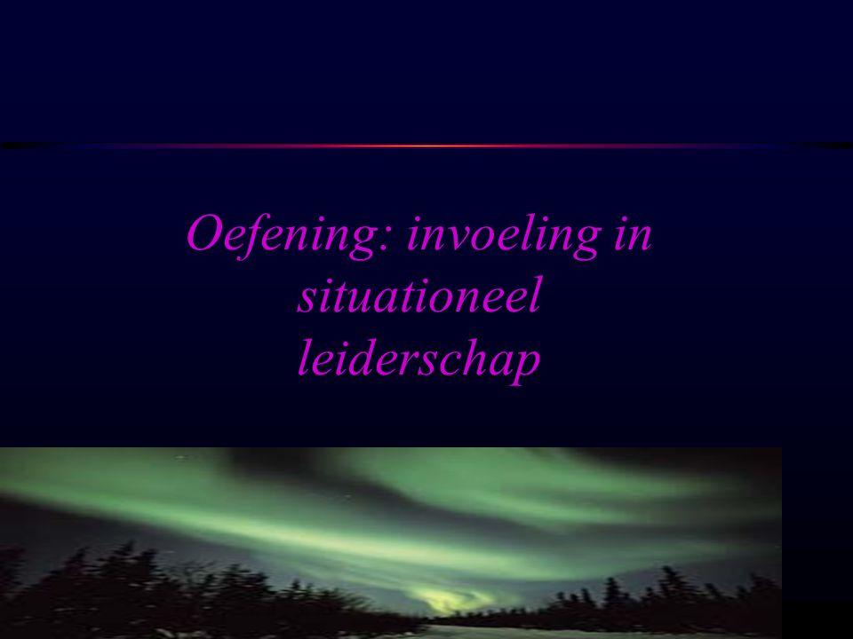 Oefening: invoeling in situationeel leiderschap