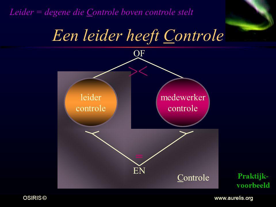 Een leider heeft Controle