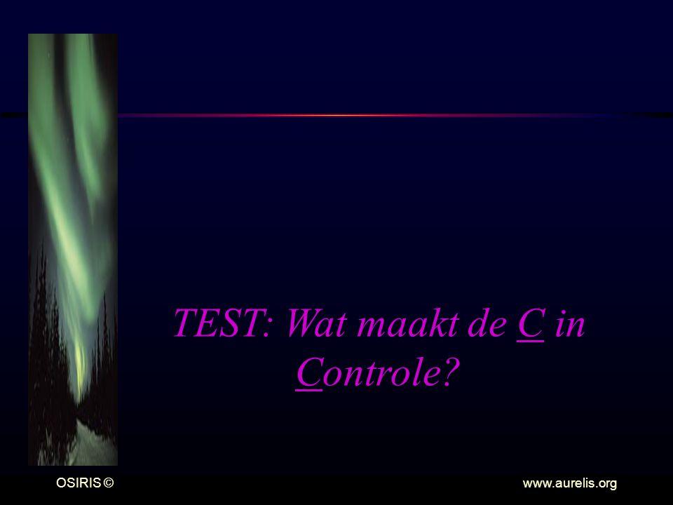 TEST: Wat maakt de C in Controle