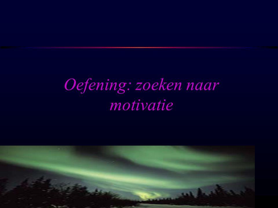 Oefening: zoeken naar motivatie