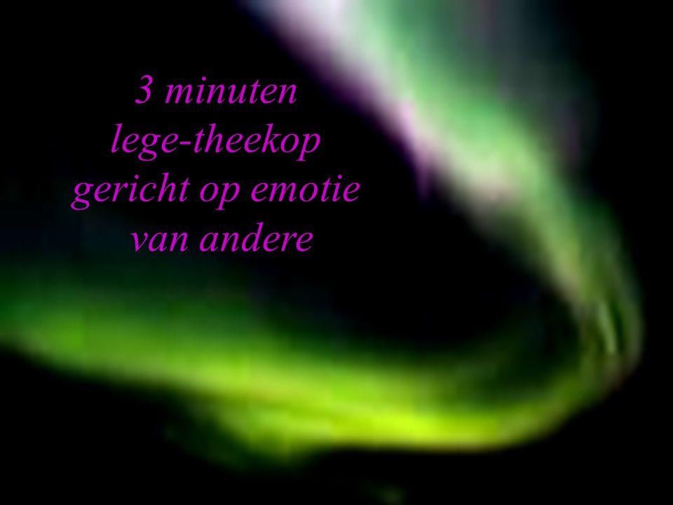 3 minuten lege-theekop gericht op emotie van andere