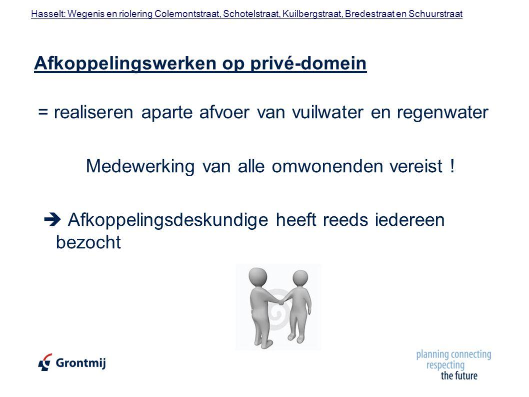 Afkoppelingswerken op privé-domein