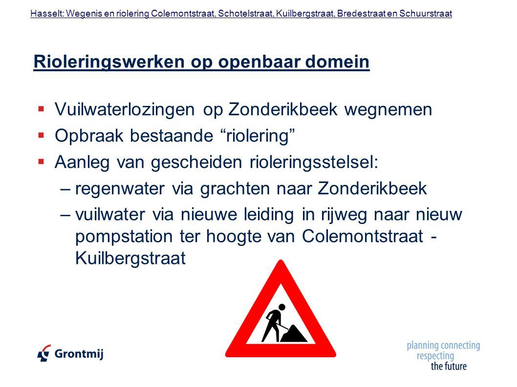 Rioleringswerken op openbaar domein