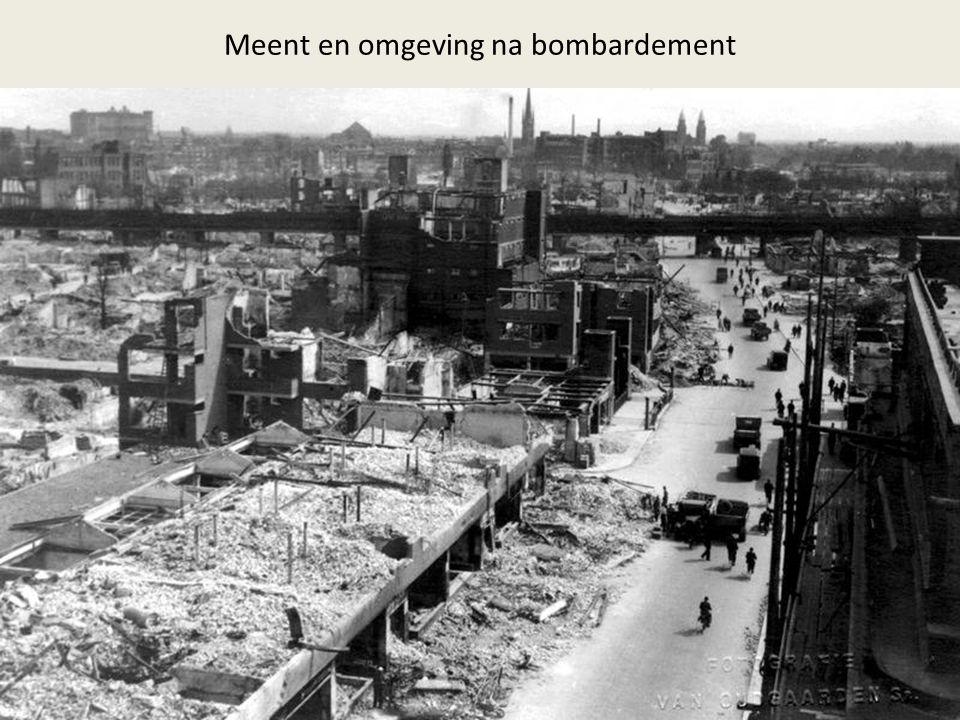 Meent en omgeving na bombardement