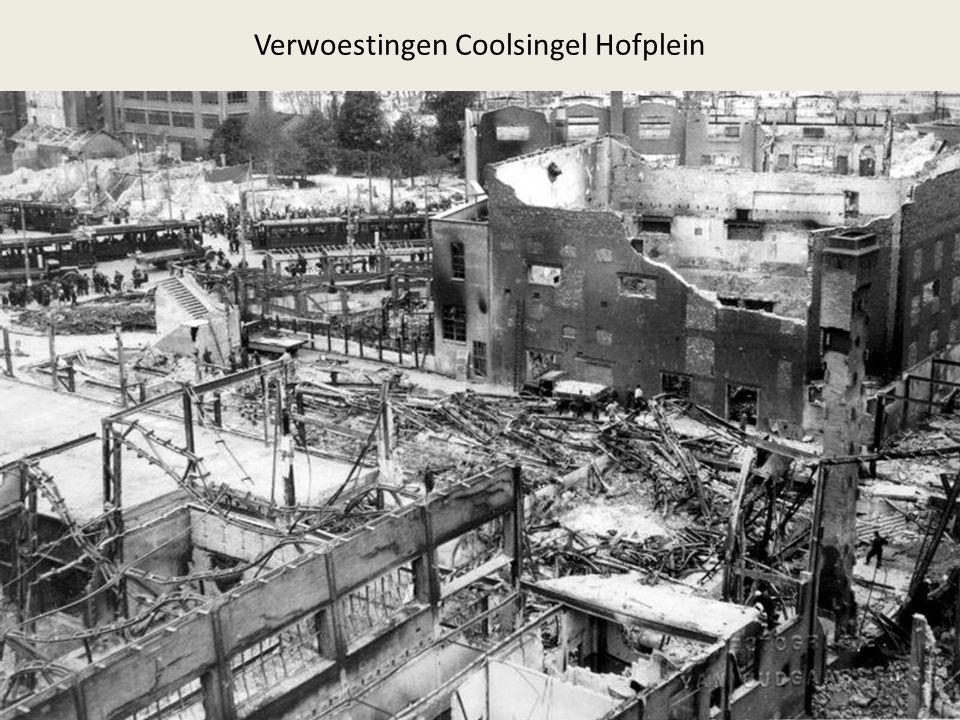 Verwoestingen Coolsingel Hofplein