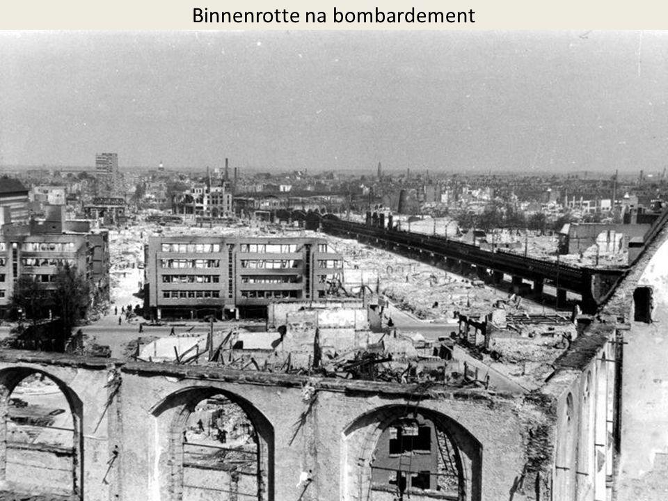 Binnenrotte na bombardement