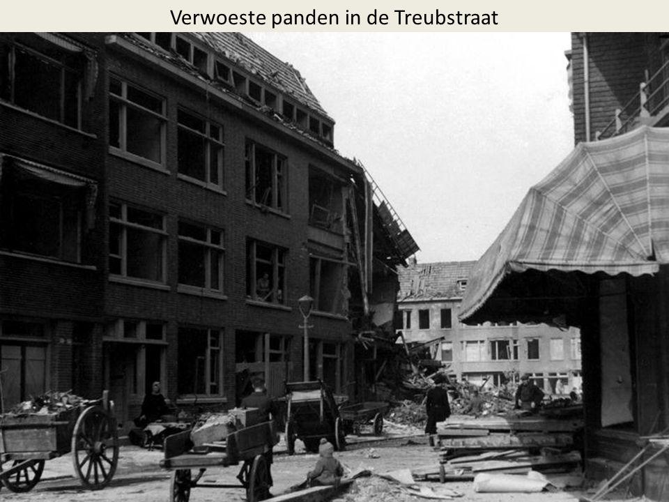 Verwoeste panden in de Treubstraat