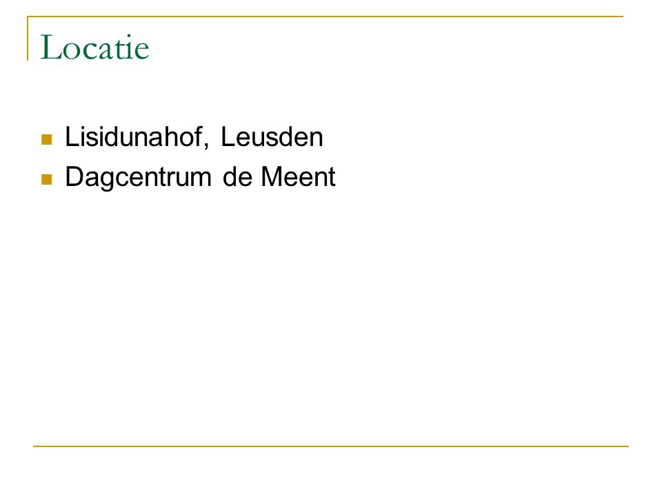 Locatie Lisidunahof, Leusden Dagcentrum de Meent