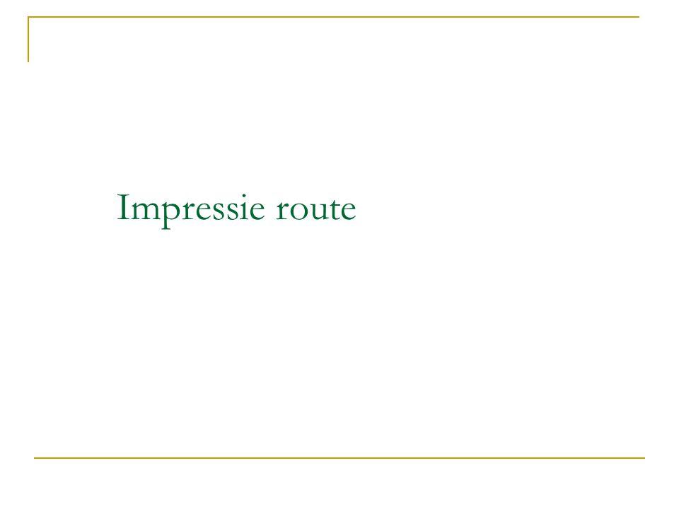 Impressie route