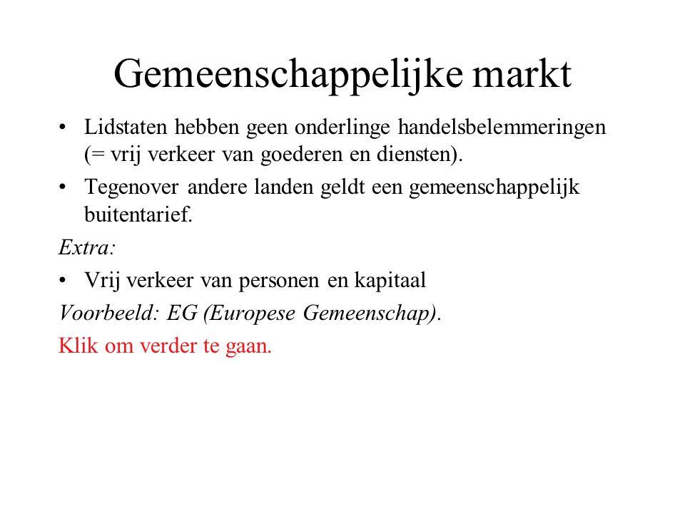 Gemeenschappelijke markt
