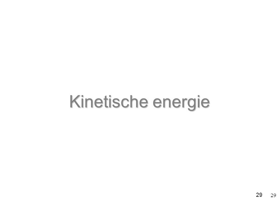 Kinetische energie 29