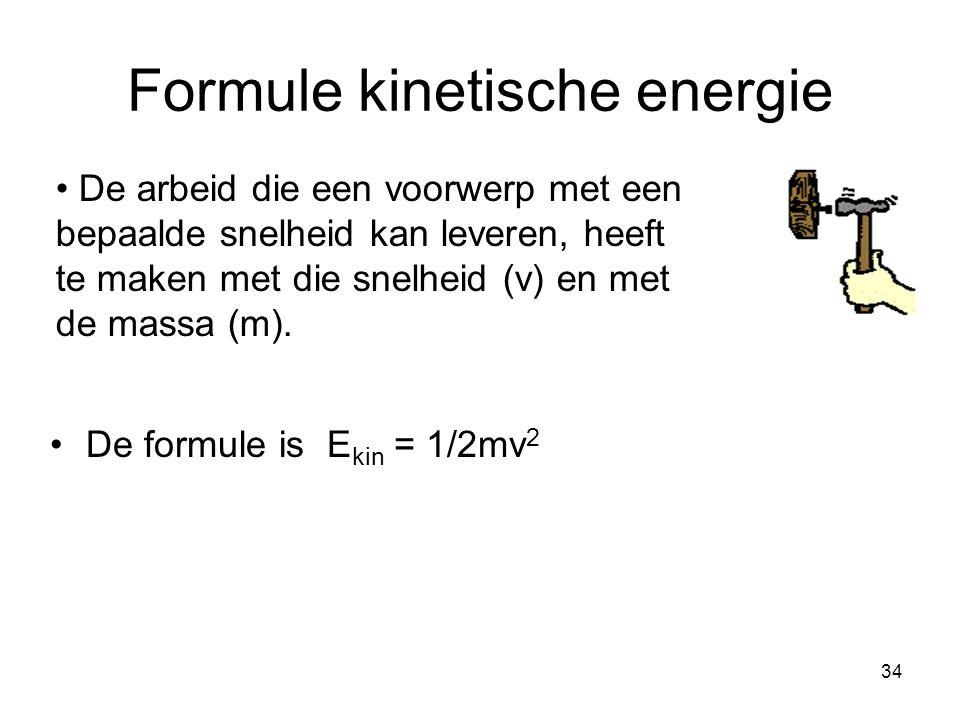 Formule kinetische energie
